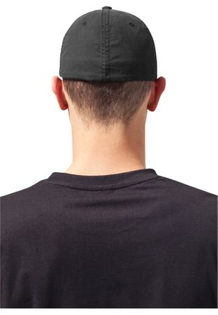 Flexfit Garment Washed Cotton Dad Hat in schwarz von S/M - L/XL – Bild 2