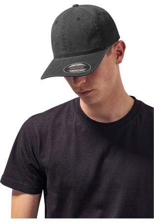 Flexfit Garment Washed Cotton Dad Hat in schwarz von S/M - L/XL – Bild 1