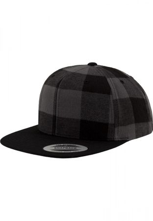 Flexfit Checked Flanell Snapback Cap in 3 Farben – Bild 3