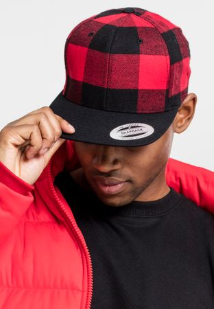 Flexfit Checked Flanell Snapback Cap in 3 Farben – Bild 8