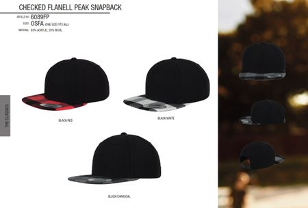 Flexfit Checked Flanell Peak Snapback Cap in 3 Styles – Bild 1