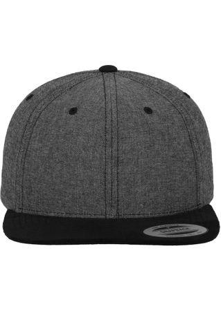 Flexfit Chambray-Suede Snapback Baseball Cap in 2 Styles – Bild 3