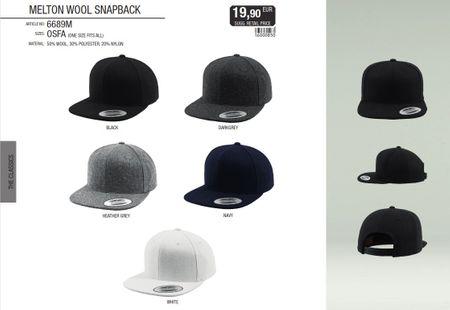 Flexfit Melton Wool Snapback Cap in 3 Styles – Bild 1