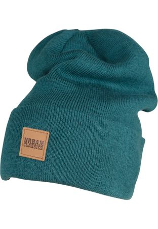 Urban Classics Leder Patch Long Beanie / Wintermütze in 7 Farben – Bild 7