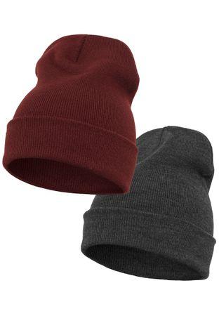 2 Pack Yupoong Long Knit Beanie / Wintermütze in 2 Farben – Bild 3