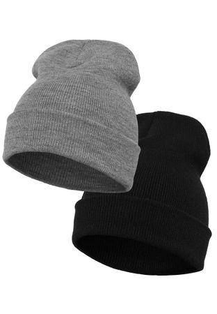 2 Pack Yupoong Long Knit Beanie / Wintermütze in 2 Farben – Bild 2