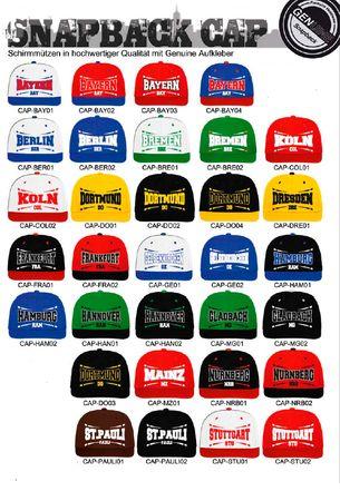 Fussball Städte Baseball Snapback Caps in 32 Styles – Bild 1