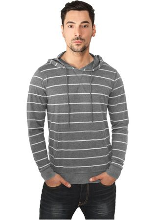 Urban Classics Striped Burnout Hoody in 3 Farben von S-2XL – Bild 2