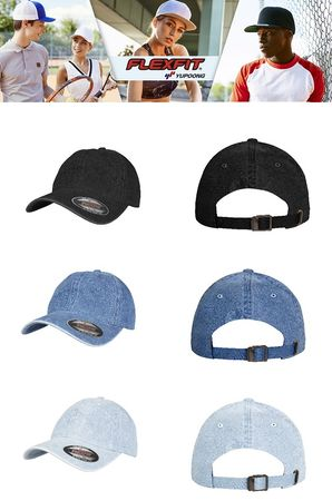 Flexfit Low Profile Denim Cap in 3 Farben – Bild 1