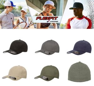 Flexfit Brushed Twill Cap von S/M - L/XL in 5 Farben 001