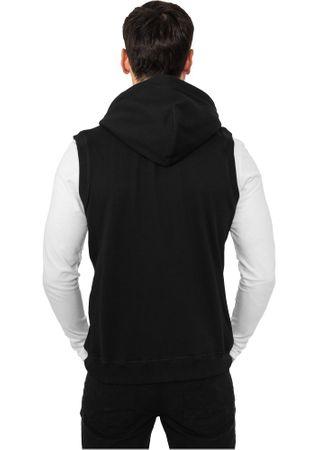 Urban Classics Light Fleece Sleeveless Zip-Hoodie in schwarz Größe S-2XL – Bild 2