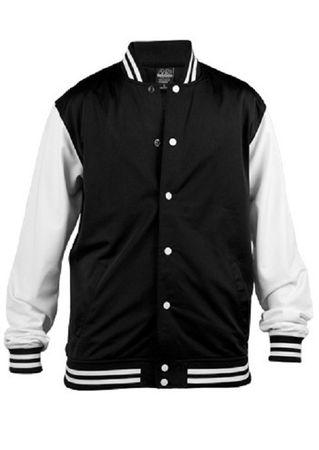 Urban Classics College Trainingsjacke schwarz von S-2XL