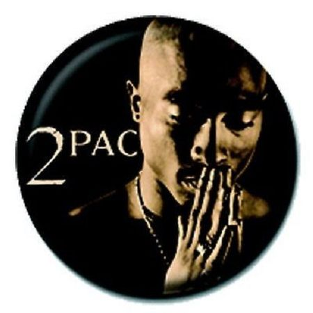 Tupac Band Merchandise Pin Anstecker mit Nadel Praying