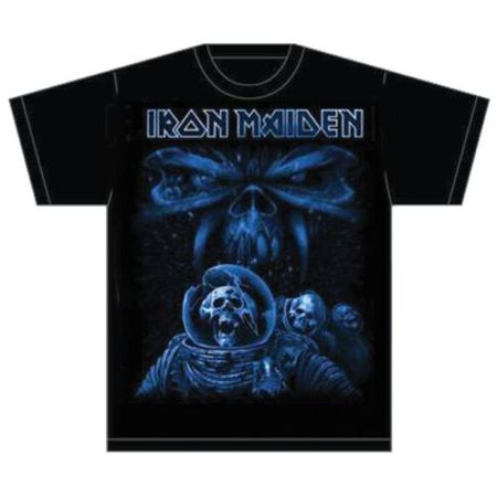 Iron Maiden Fan T-Shirt Final Frontier Blue Album Spaceman von S-2XL