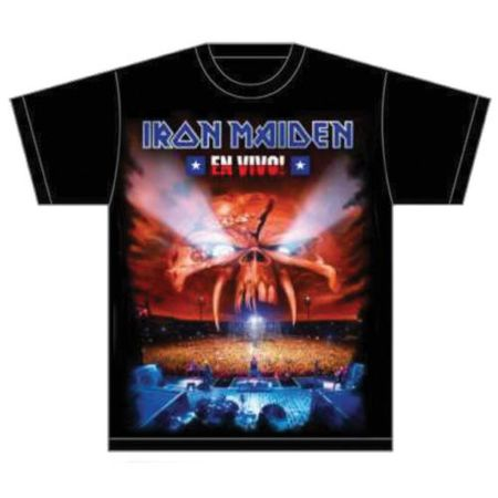 Iron Maiden Band Shirt En Vivo Cover in S