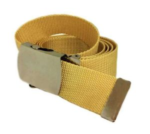 Stoffgürtel / Matrosengürtel / Canvas Belt in beige von 115cm-150cm 001