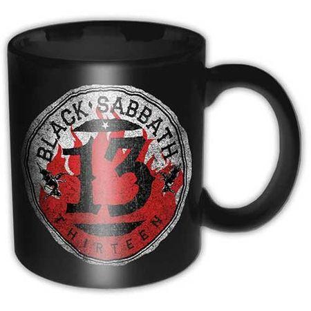 Black Sabbath Kaffeetasse 13 Flame Circle inkl. Geschenkbox