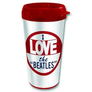 The Beatles I Love The Beatles Thermo Kaffeebecher Travel Mug 001