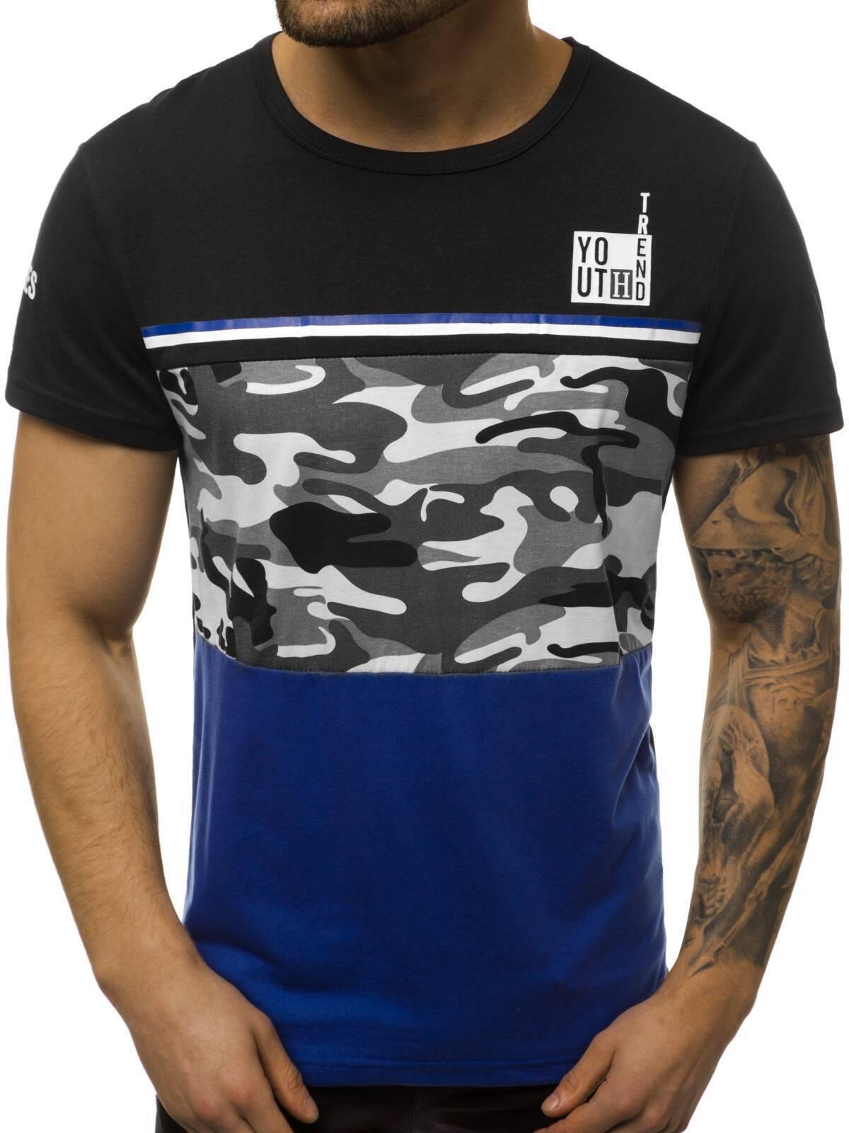 Indexbild 46 - T-Shirt Kurzarm Print Aufdruck Fitness Jogging Sport Shirt Herren OZONEE 12511