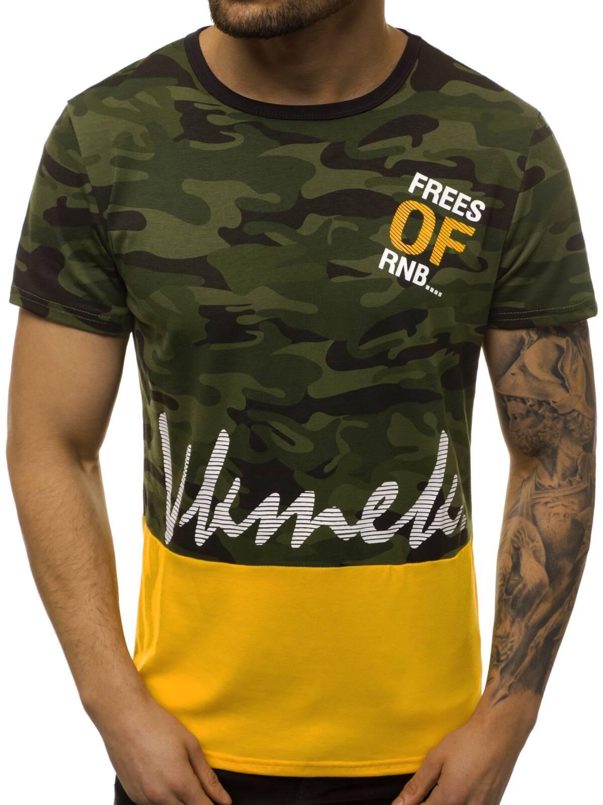 Indexbild 40 - T-Shirt Kurzarm Print Aufdruck Fitness Jogging Sport Shirt Herren OZONEE 12511