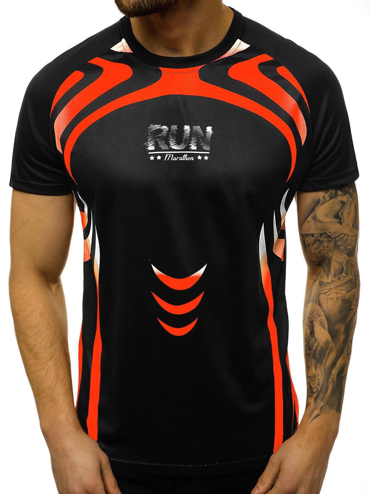 Indexbild 4 - T-Shirt Kurzarm Print Aufdruck Fitness Jogging Sport Shirt Herren OZONEE 12511