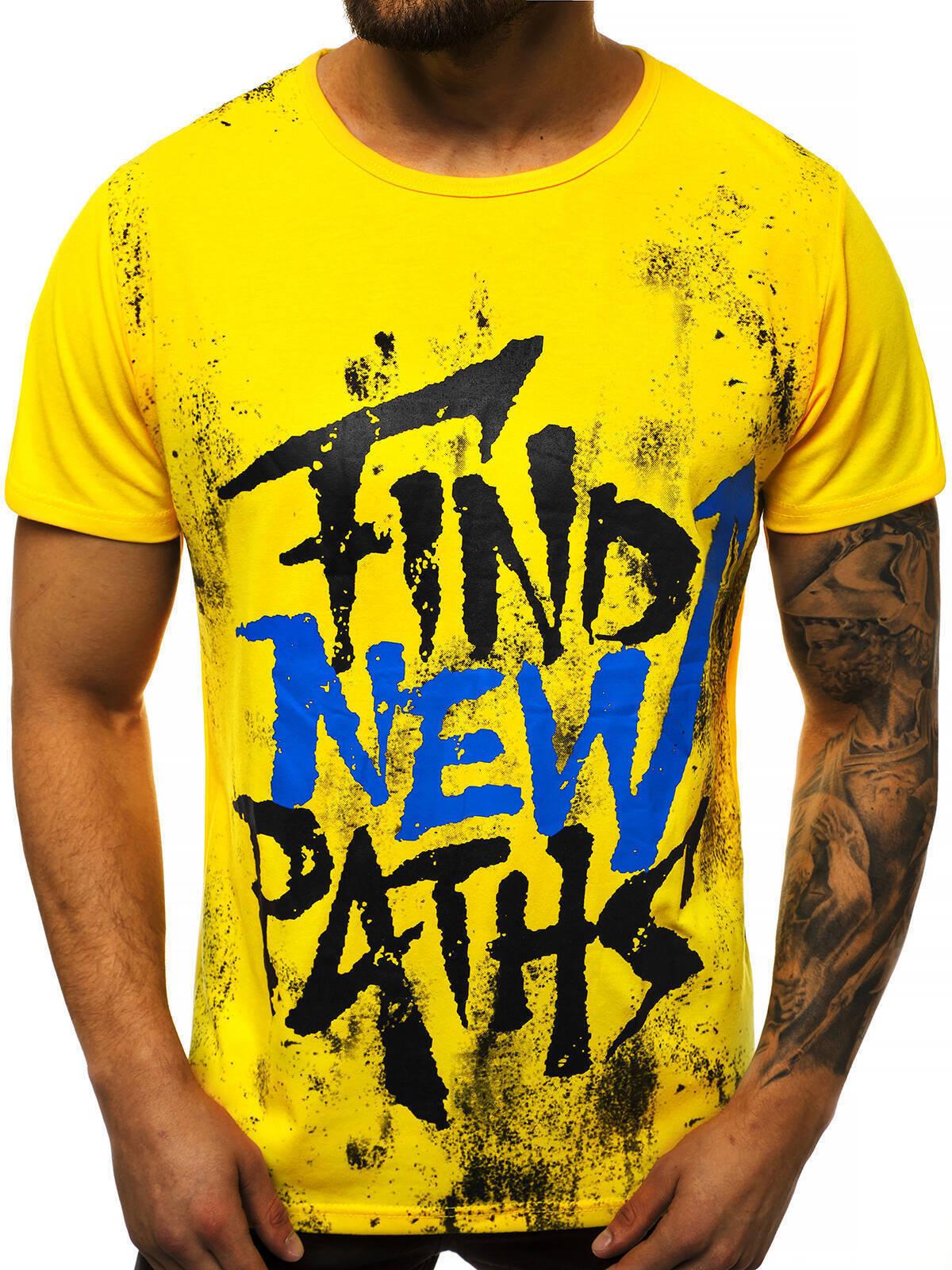 Indexbild 14 - T-Shirt Kurzarm Print Aufdruck Fitness Jogging Sport Shirt Herren OZONEE 12511