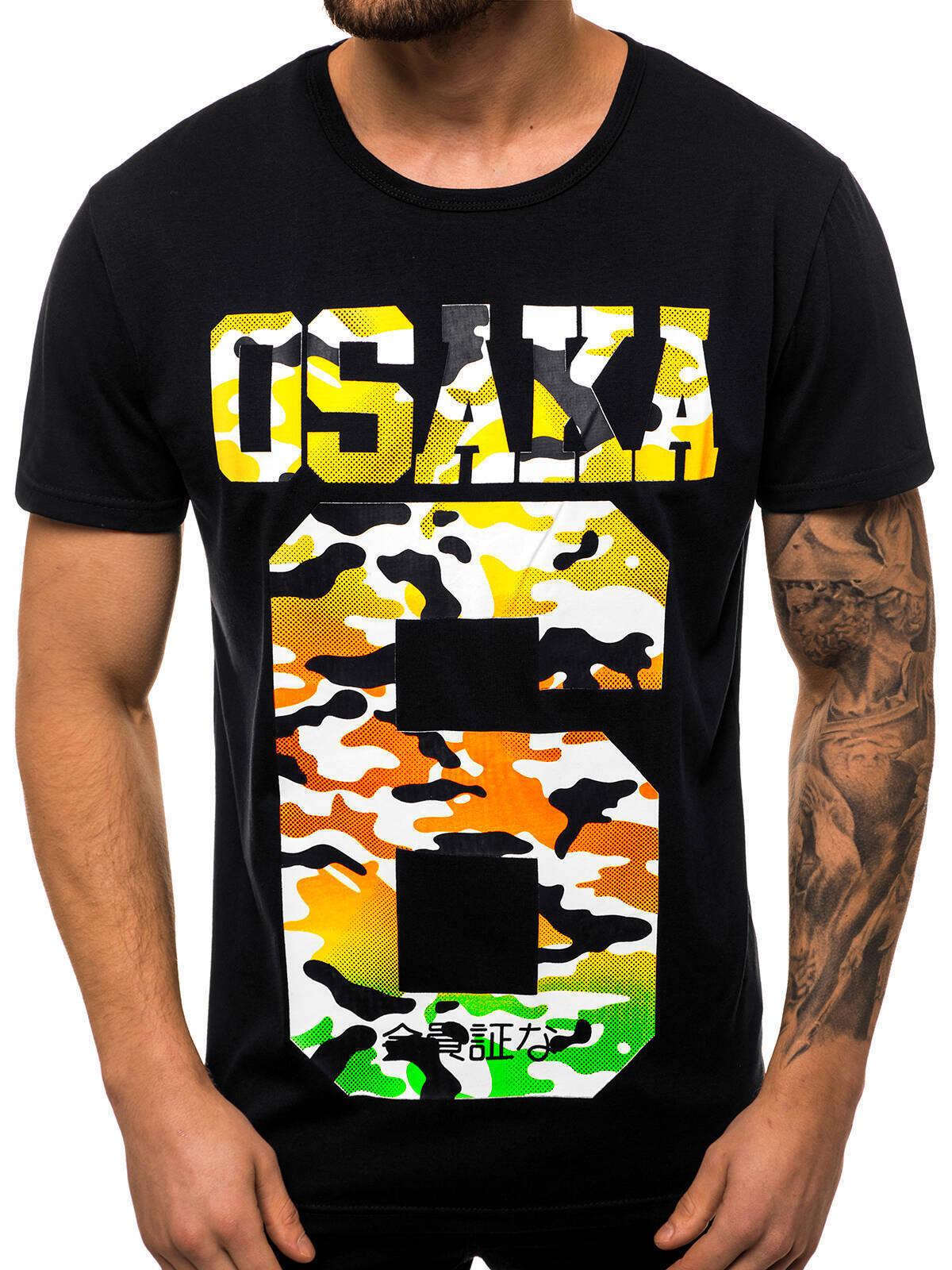Indexbild 29 - T-Shirt Kurzarm Print Aufdruck Fitness Jogging Sport Shirt Herren OZONEE 12511