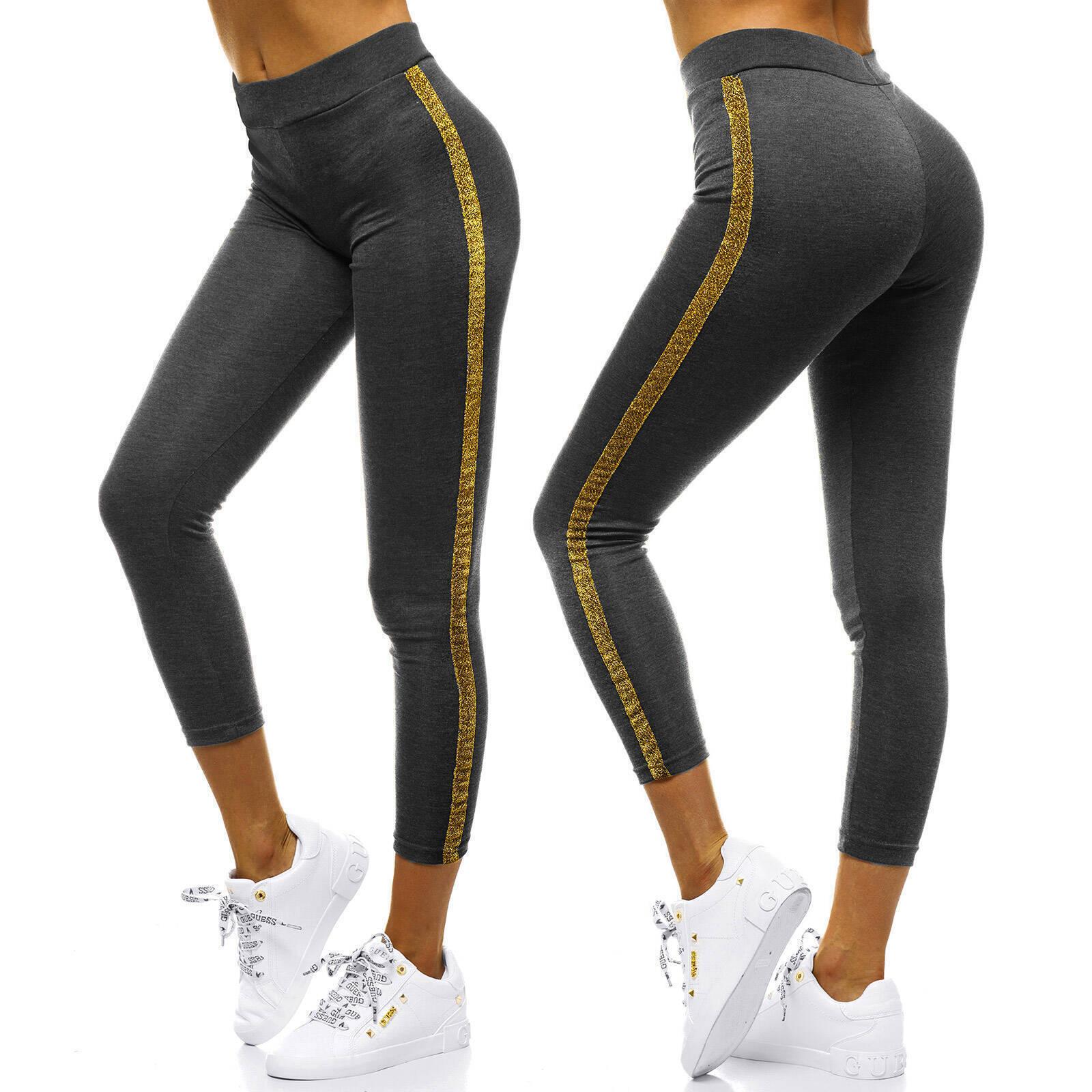 Leggings-Sport-Yoga-Fitness-Leggins-Jogginghose-Trainingshose-Hose-Damen-OZONEE miniatura 64