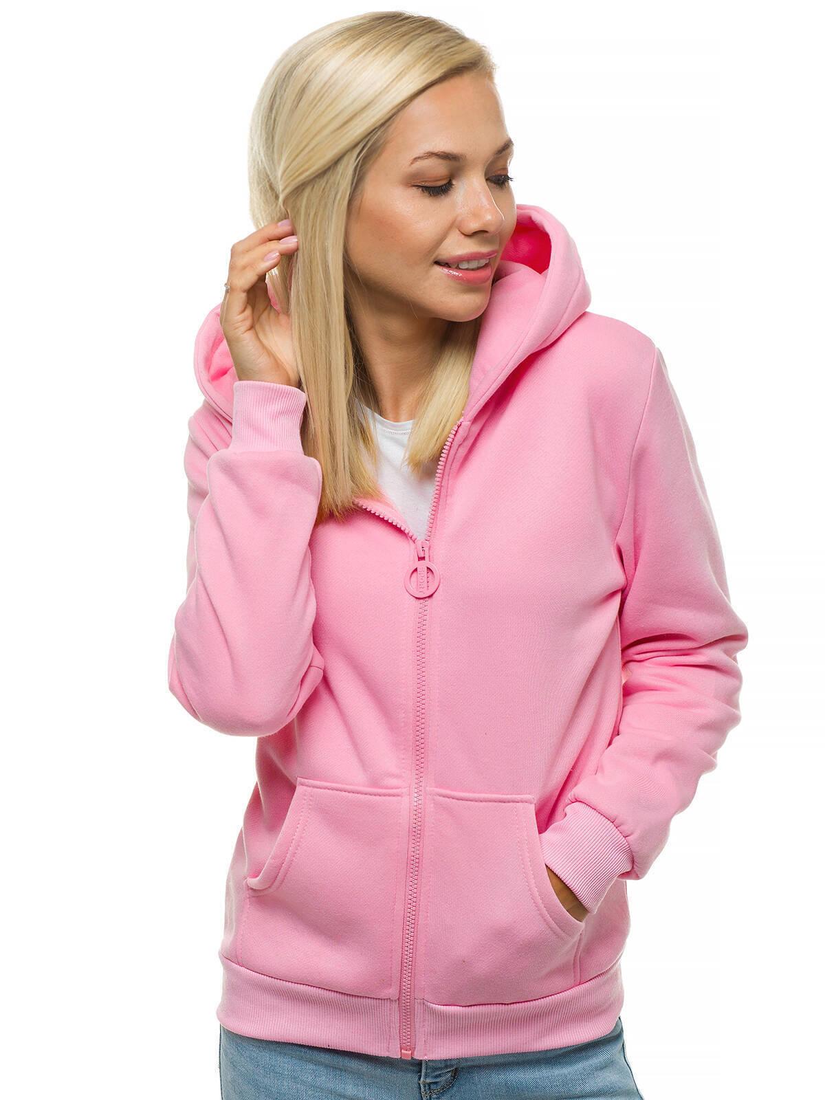 Kapuzenpullover Sweatjacke Sweatshirt Pullover Hoodie Kapuze Zip OZONEE 18 Damen