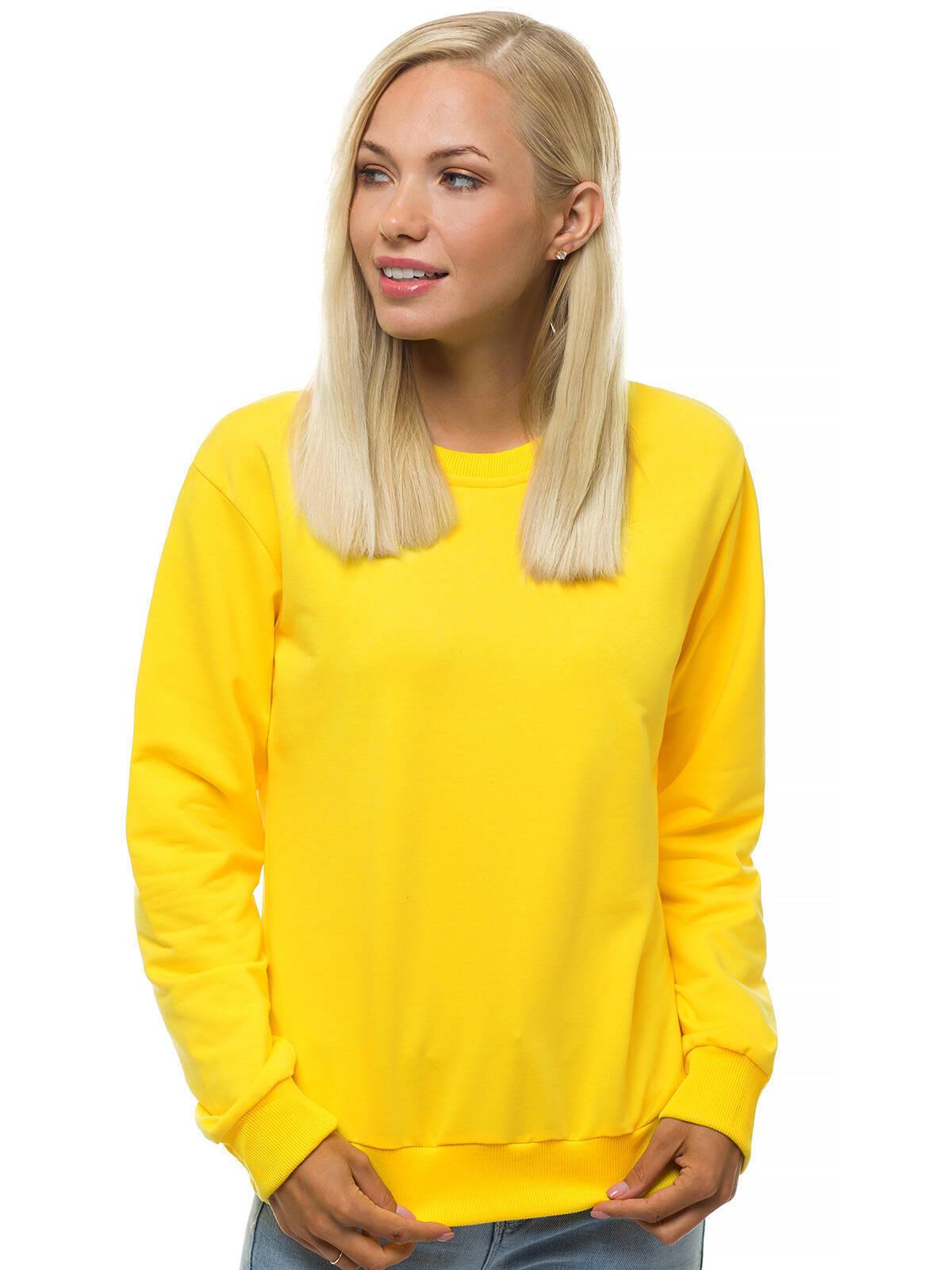 Sweatshirt Langarmshirt Pullover Pulli Rundhals Unifarben Sport OZONEE 002 Damen