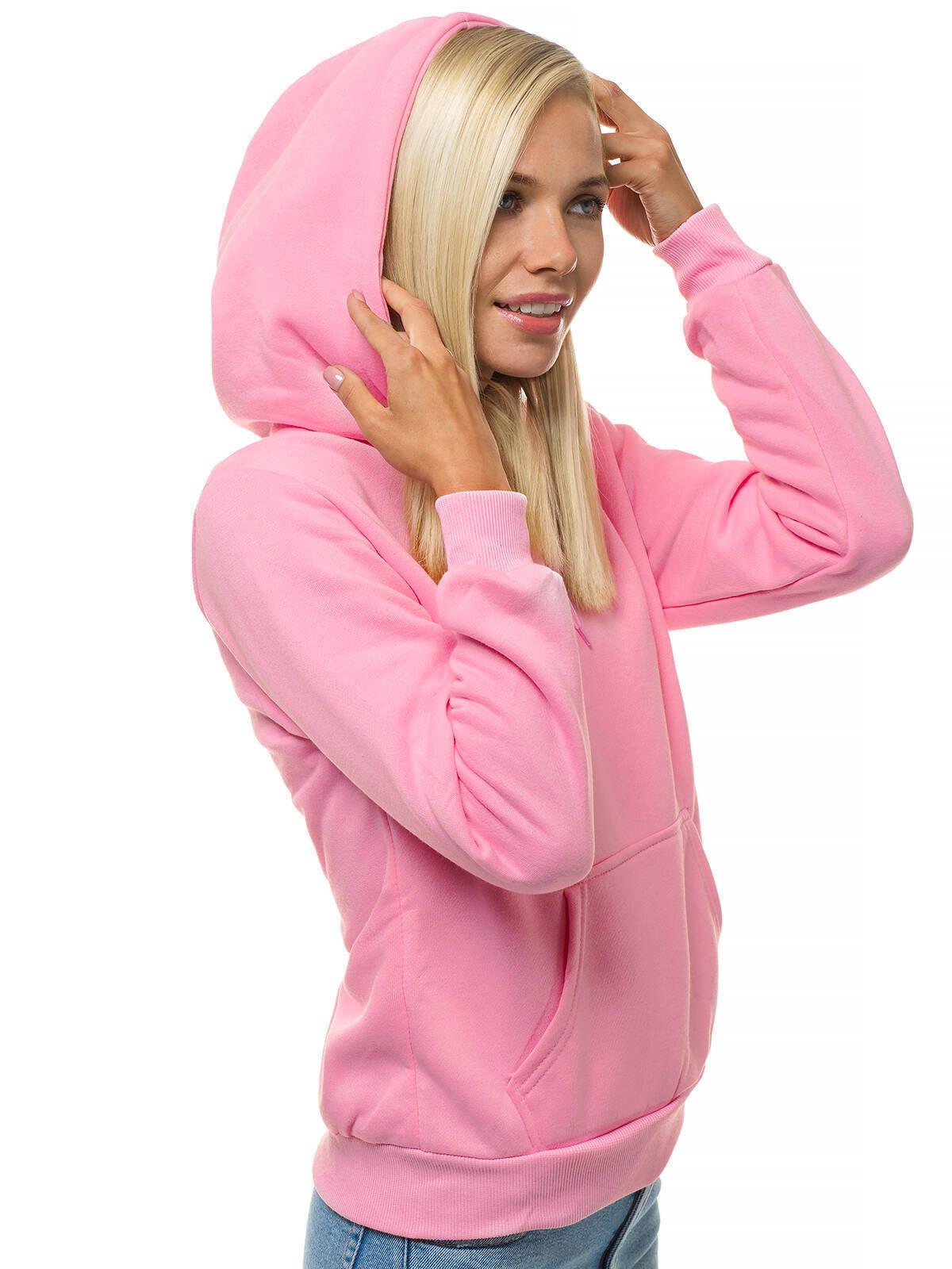 Kapuzenpullover Sweatshirt Langarmshirt Hoodie Unifarben Sport Damen OZONEE 2038
