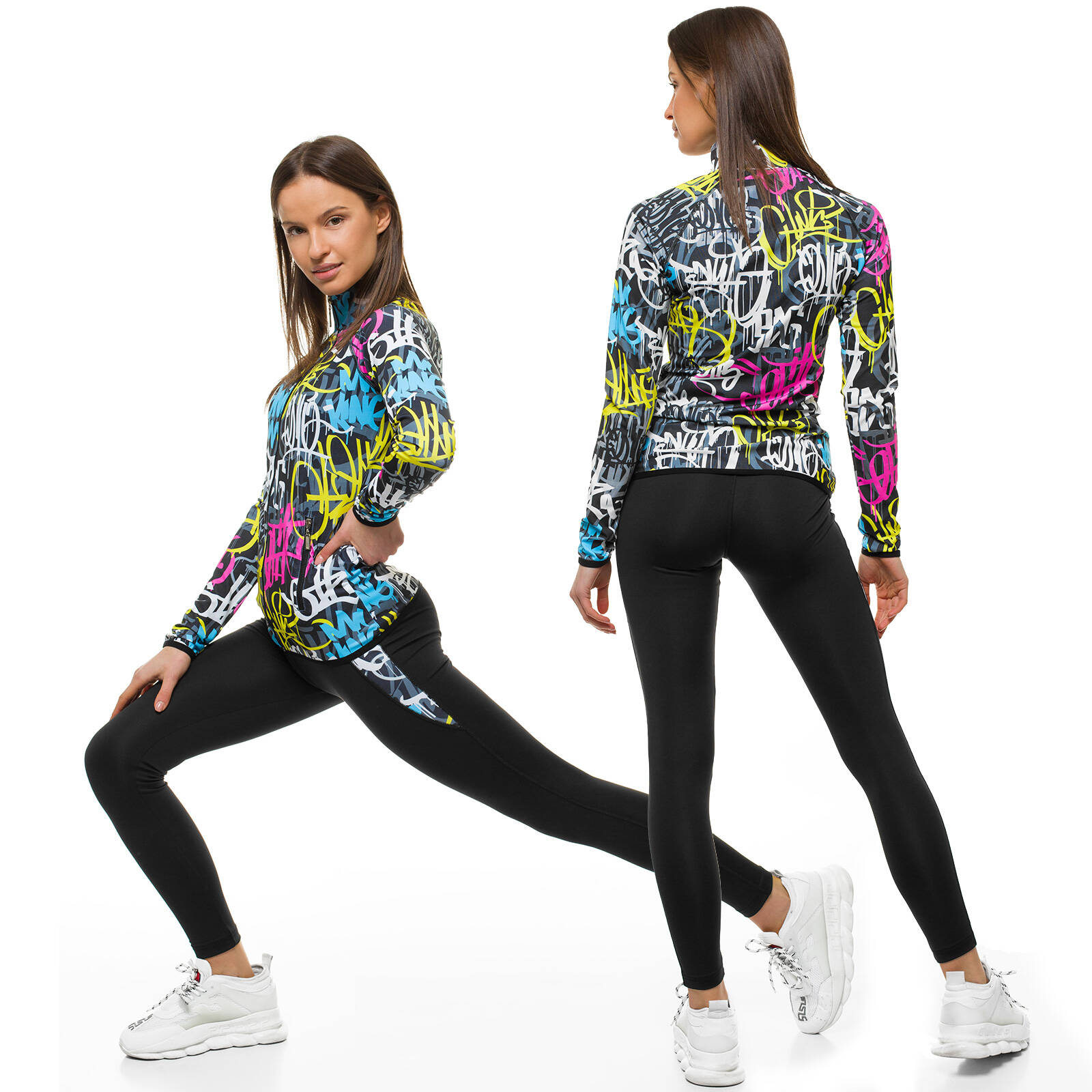 Trainingsanzug Sportanzug Jogginganzug Hose Sweatshirt Damen OZONEE 14535 MIX