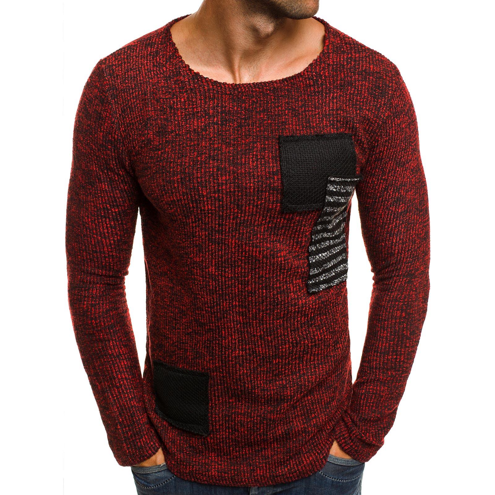 OZONEE-Herren-Pullover-Strickpullover-Longsleeve-Stricken-Sweater-Pulli-1165-MIX