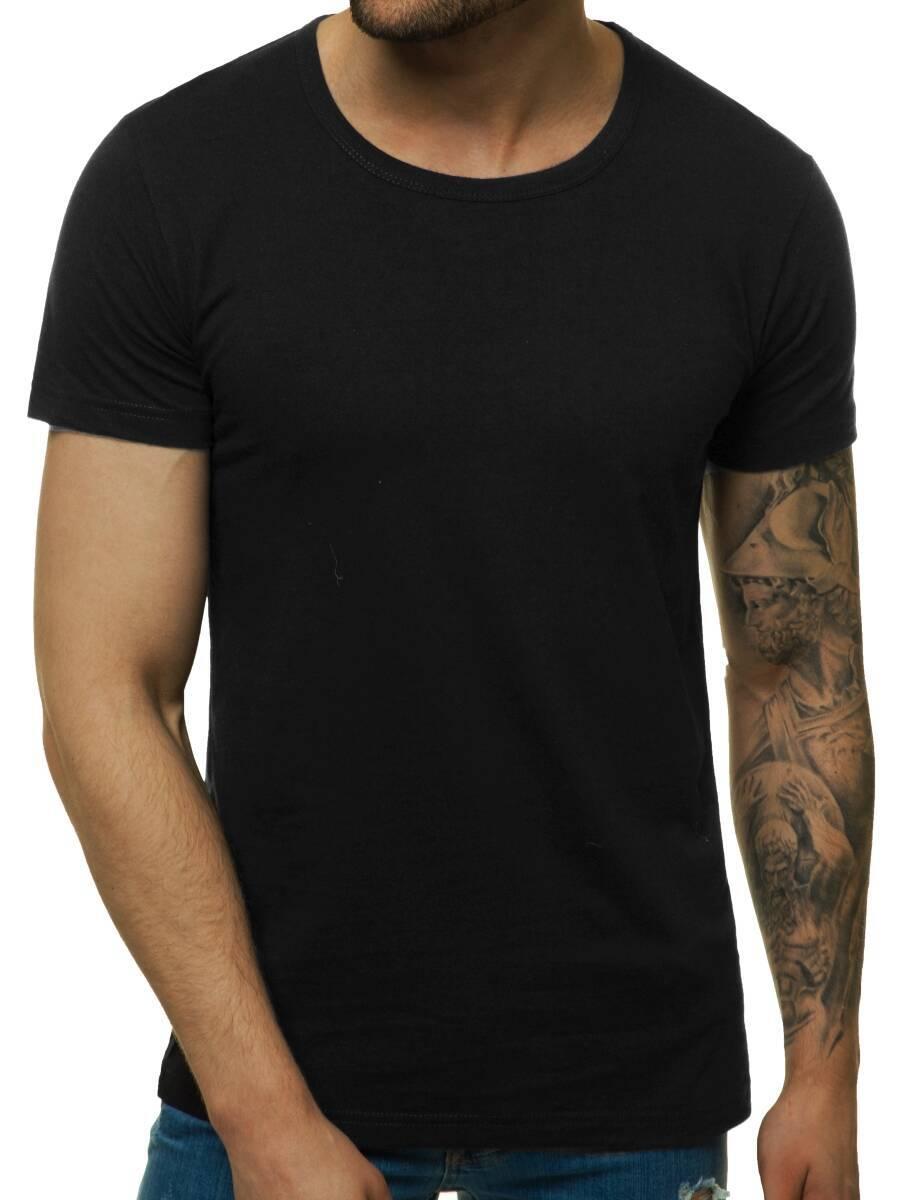 T-Shirt-Kurzarm-Shirt-Aufdruck-Figurbetont-Fitness-Herren-OZONEE-7396-MIX