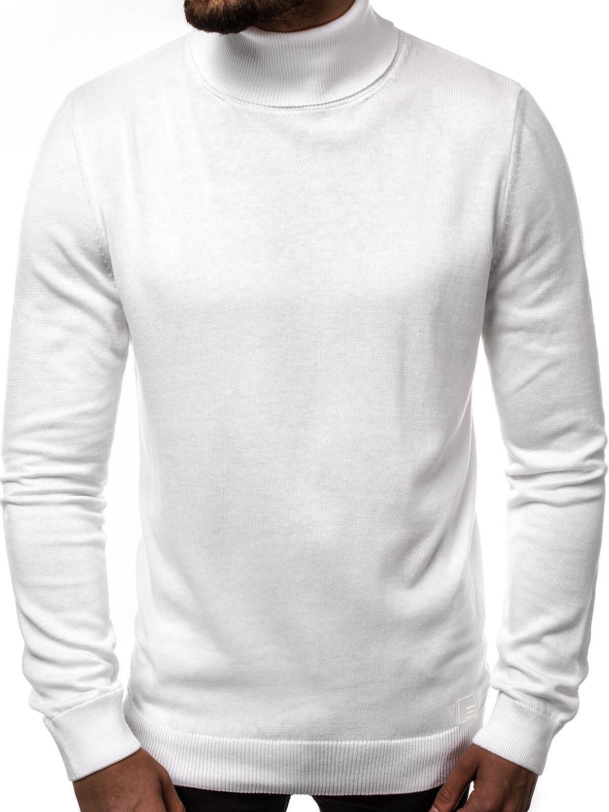 Rollkragen Langarmshirt Sweatshirt Pullover Longsleeve Herren Pulli Sweatshirt