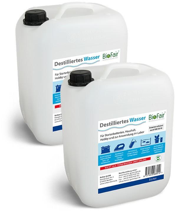SPARPAKET: Destilliertes Wasser - 2 Kanister à 5 Liter