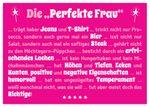 Postkarte A6 +++ LUSTIG +++ DIE PERFEKTE FRAU