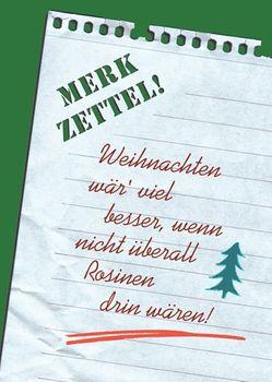 Postkarte A6 +++ WEIHNACHTEN +++ MERKZETTEL!