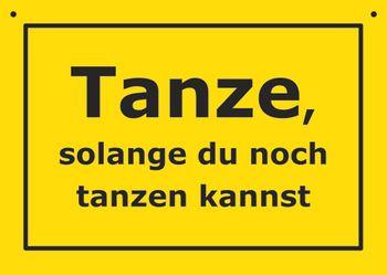 Postkarte Kunststoff +++ VERBOTENE SCHILDER +++ TANZE