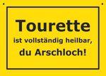 Postkarte Kunststoff +++ VERBOTENE SCHILDER +++ TOURETTE