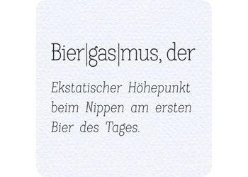 Bierdeckel 15 Stück +++ LUSTIG +++ DER BIERGASMUS - HUMOR-BIERDECKEL
