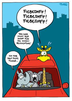 Postkarte A6 +++ CARTOON +++ FIEBEDAFF!