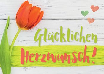 Postkarte A6 +++ LUSTIG +++ GLÜCKLICHEN HERZWUNSCH