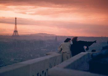 Postkarte A6 +++ LUSTIG +++ CLOUDY PARIS