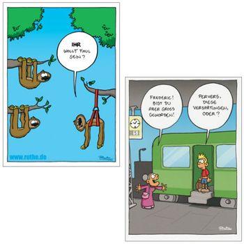 Postkarten A6 +++ MIX SET Nr. 3 +++ 10 lustige RALPH RUTHE-Cartoons – Bild 2