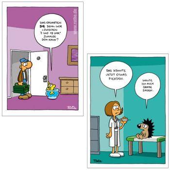 Postkarten A6 +++ MIX SET Nr. 3 +++ 10 lustige RALPH RUTHE-Cartoons – Bild 5