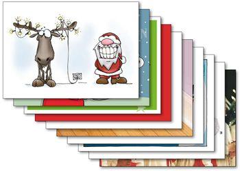 Postkarten A6 +++ MIX SET Nr. 2 +++ 10 lustige Motive zu WEIHNACHTEN – Bild 1