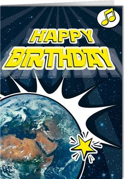 Grußkarte 12,5 x 17,5 cm +++ MIT MUSIK +++ HAPPY BIRTHDAY MÖGE DIE MACHT – Bild 1
