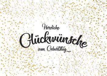 Postkarte A6 +++ LUSTIG +++ HERZLICHE GLÜCKWÜNSCHE ZUM GEBURTSTAG
