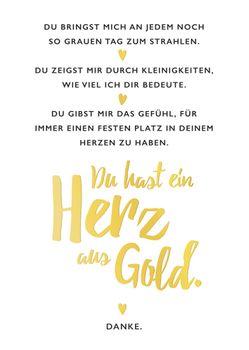 Postkarte A6 +++ LUSTIG +++ DU HAST EIN HERZ AUS GOLD GOLD